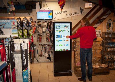 Instore Sales Kiosk Dobber Outdoor Texel