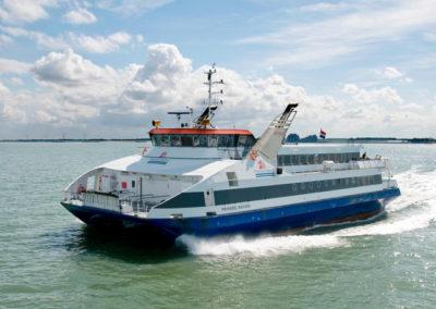 Informatieschermen op de Westerschelde Ferry