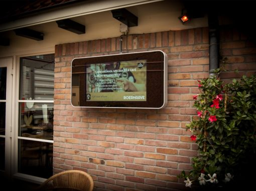Extra Outdoor display voor Boerhaave