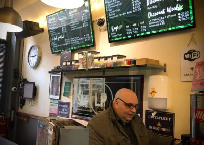 Interactieve menuborden voor Coffeeshop Le Palais Leiden
