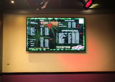 Digitaal menubord voor Coffeeshop Stingray