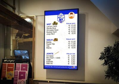 Interactieve menuborden voor Coffeeshop Sky Breda